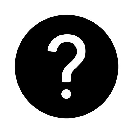 Question help flat icon for apps and websites