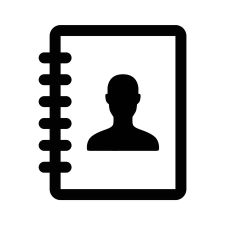 Contacts address book line art icon for apps and websites Illustration