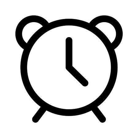ringer: Alarm clock line art icon for apps and websites