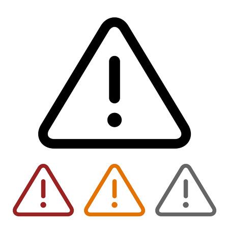 alerta: Precaución icono de la línea de arte de alerta para aplicaciones y sitios web Vectores