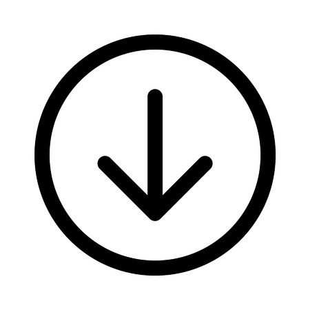 directional arrow: Down directional arrow line art icon for apps and websites