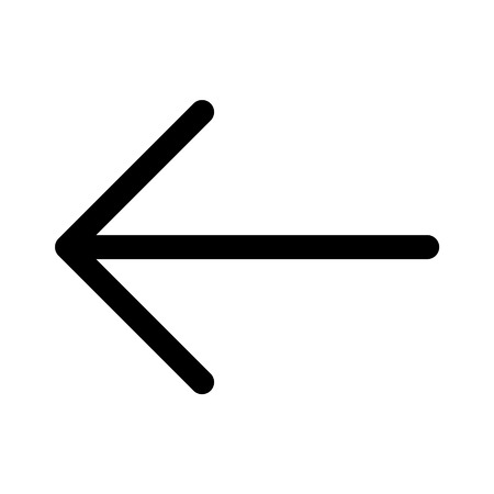 web development: Left back directional arrow line art icon for apps and websites