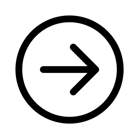 directional arrow: Right next directional arrow line art icon for apps and websites