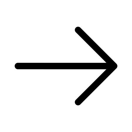 Right next directional arrow line art icon for apps and websites