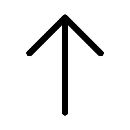 directional arrow: Up directional arrow line art icon for apps and websites Illustration
