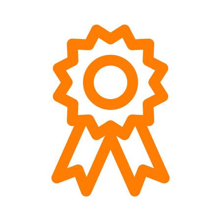 award badge: Award badge line art icon for apps and websites Illustration