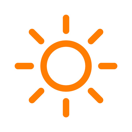 brightness: Sun brightness line art icon for apps and websites Illustration