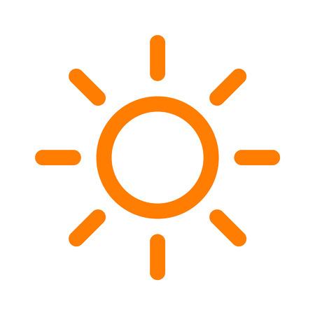 Sun brightness line art icon for apps and websites Illustration