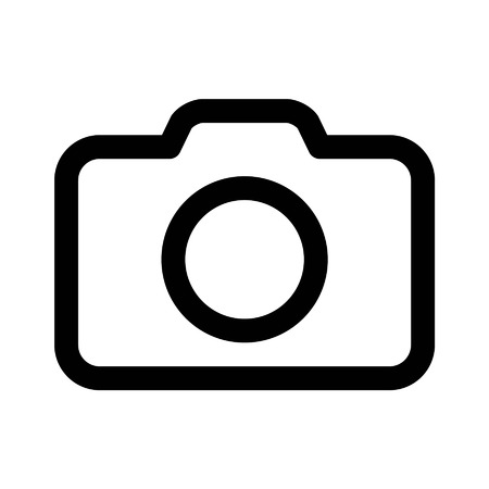 Camera photography line art icon for apps and websites