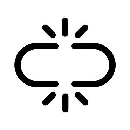 cadena rota: Broken icono de la línea de arte eslabón de la cadena de aplicaciones y sitios web