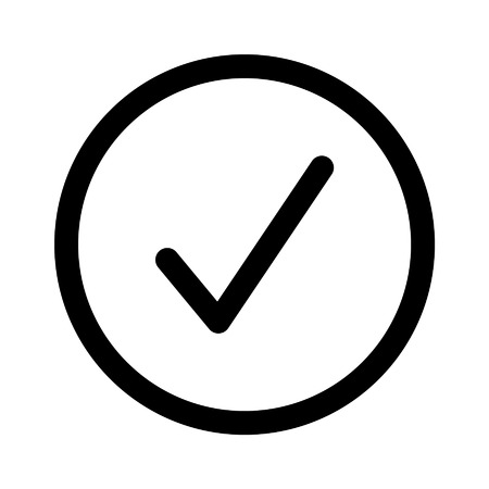 confirm: Confirm checkbox line art icon for apps and websites