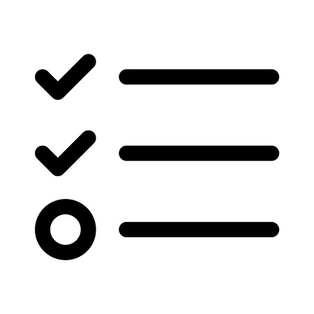 checklist: Checklist line art icon for apps and websites Illustration