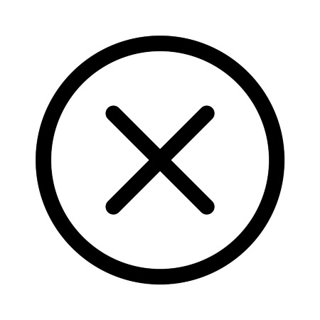 Cancel  close line art icon for apps and websites