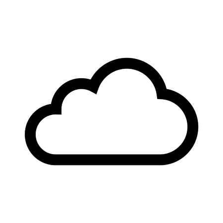 icloud: Cloud drive storage line art icon for apps Illustration
