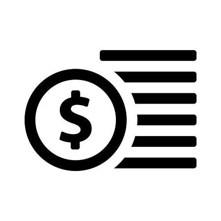 loot: Coins  coin line art icon for apps and websites