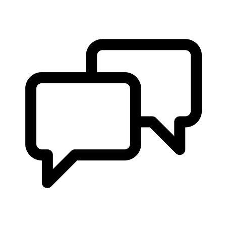 Chat conversation line art icon for apps and websites
