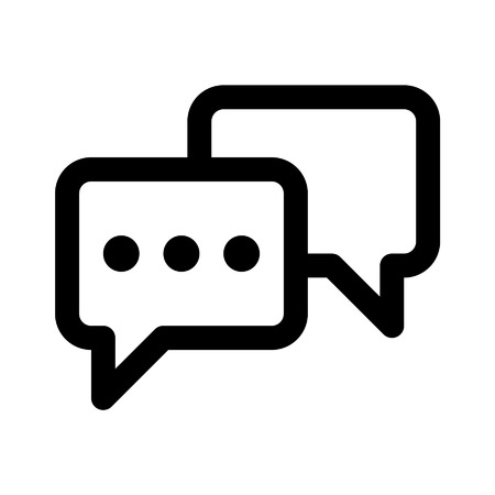 chat: Chat conversation line art icon for apps and websites