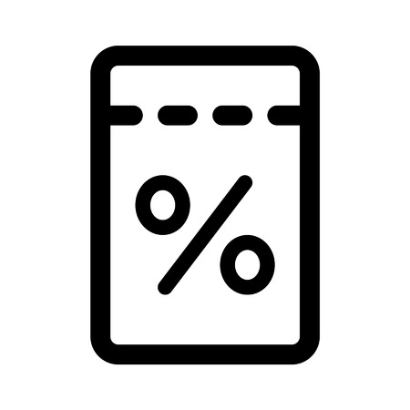 rip off: Discount sale coupon line art icon for apps and websites