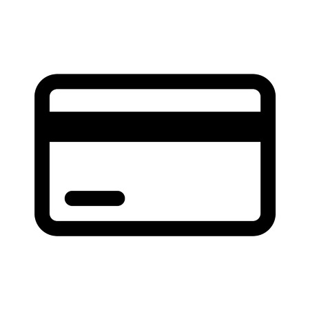 Credit  debit card line art icon for apps and websites 矢量图像