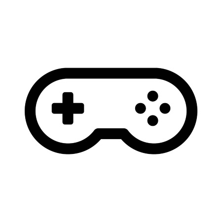 playstation: Game controller gamepad line art icon for apps and websites