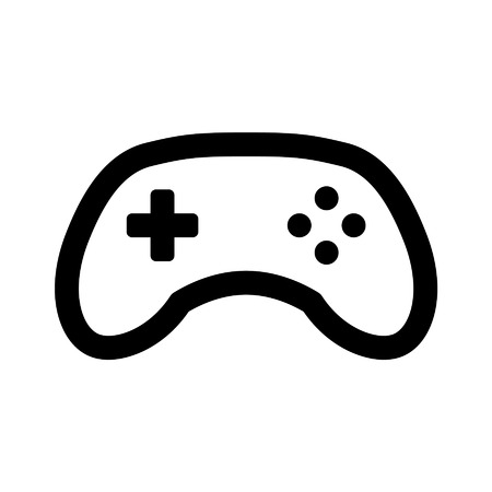 Game controller gamepad line art icon for apps and websites
