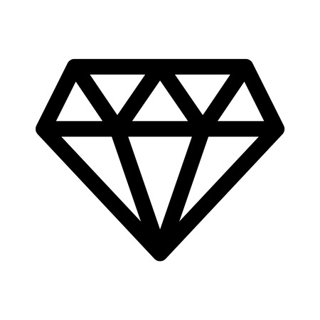karat: Diamond jewel gem flat icon for apps and websites