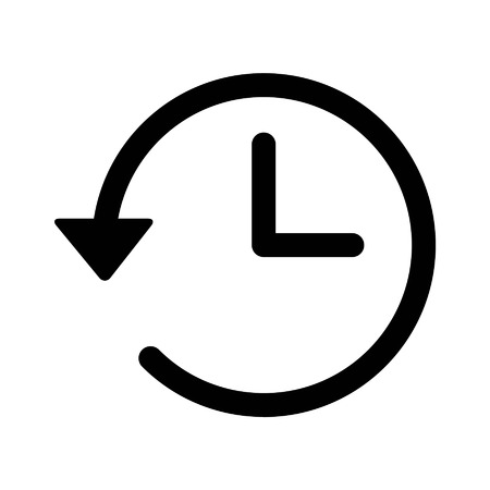 time: Account history line art icon for apps and websites