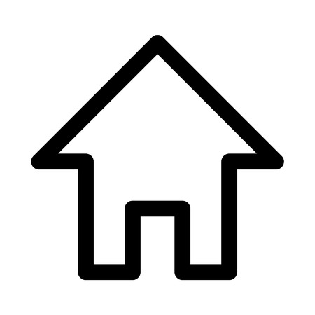 home line: Web home line art icon for apps and websites
