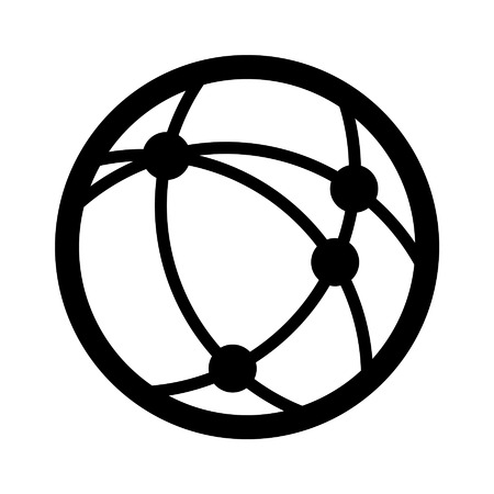 network logo: Internet communication line art icon for apps and websites