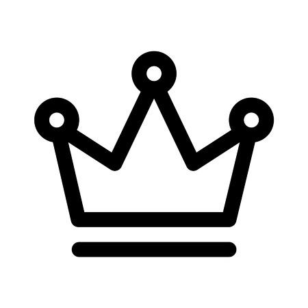corona de reina: Corona del icono de la l�nea de arte rey de aplicaciones y sitios web