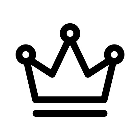 Crown of the king line art icon for apps and websites