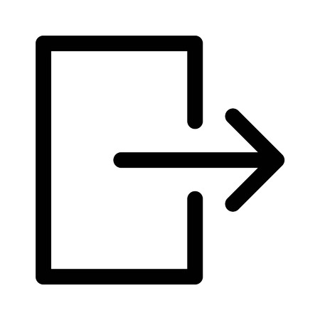 Logout sign out line art icon for apps and websites