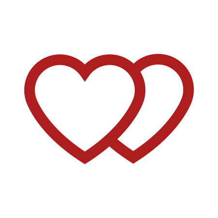 Love and marriage heart line art icon