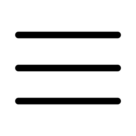 Hamburger menu bar line art icon for apps and websites Illustration