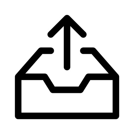 outbox: Message outbox line art icon for apps and websites