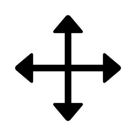 Mueva direccional icono de la línea de arte de flecha para aplicaciones y sitios web Foto de archivo - 42615267
