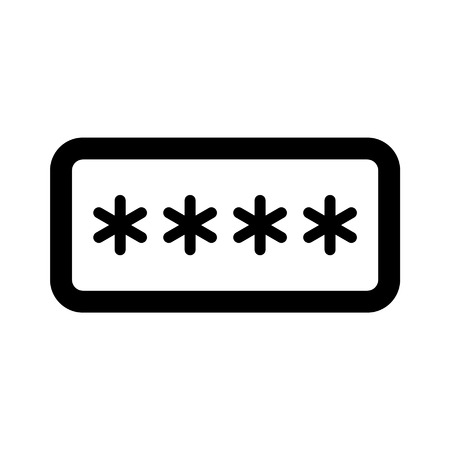 pincode: Password field line art icon for apps and websites Illustration