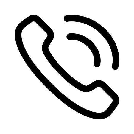 Phone ringing line art icon for apps Vettoriali
