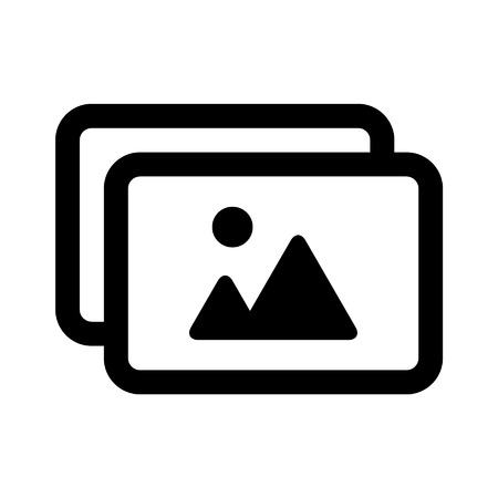 Photo album line art icon for apps and websites