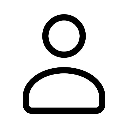 person icon: User account line art icon for apps and websites
