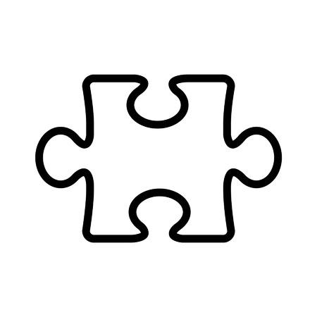 piezas de puzzle: Puzzle icono de la l�nea de arte pieza para aplicaciones y sitios web Vectores