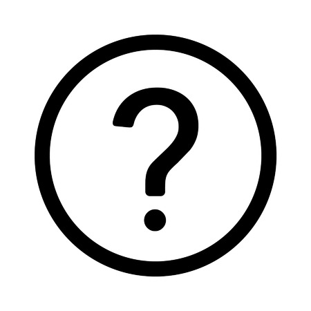 Question help line art icon for apps and websites