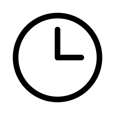 Clock and watch line art icon for apps and websites