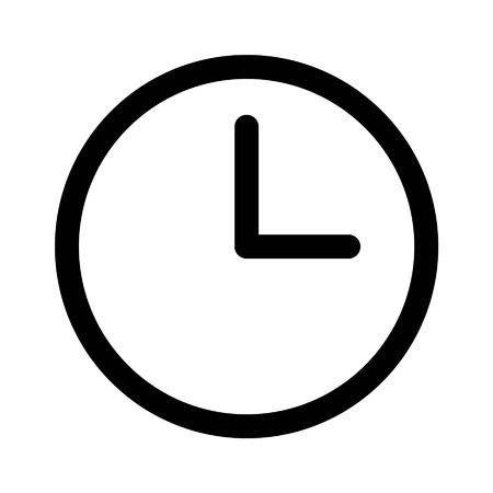 Zegar i linii zegarek sztuki ikona aplikacji i stron internetowych