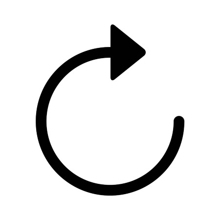 Sync and refresh arrow line art icon for apps and websites