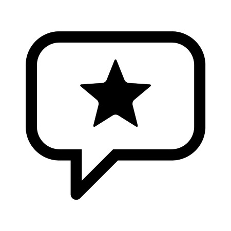 speech bubble vector: Reputation management line art icon for apps and websites