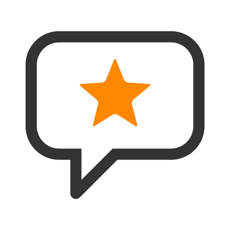 Reputatie management lijntekeningen icoon voor apps en websites Stock Illustratie