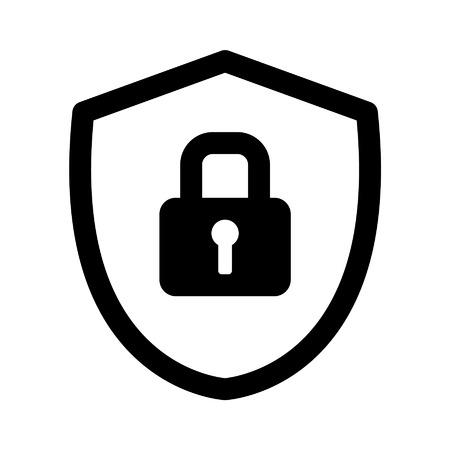 ESCUDO: icono del arte línea de bloqueo de escudo de seguridad para aplicaciones y sitios web