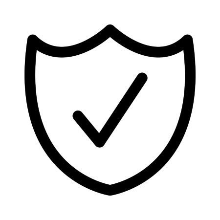 Security shield flat icon for apps and websites