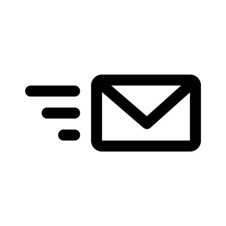 Send email line art icon for apps and websites Illusztráció